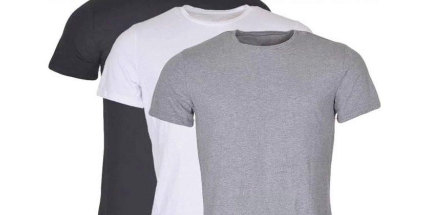 Camiseta lisa de algodão é perfeita para revenda